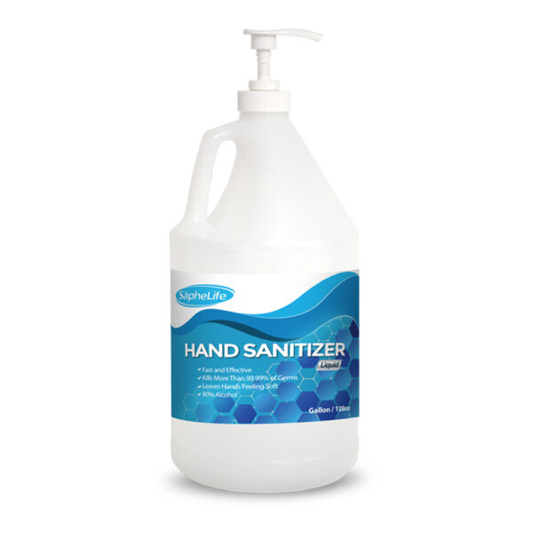(1) Gallon 80% Ethanol Alcohol Hand Sanitizer LIQUID- WITH Easy to use Pump unscented