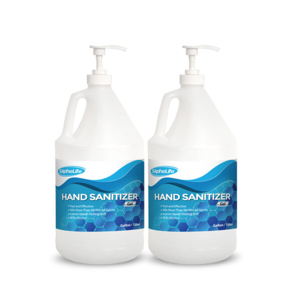 (2) Gallons 80% Ethanol Alcohol Hand Sanitizer GEL WITH Easy To Use Pump unscented
