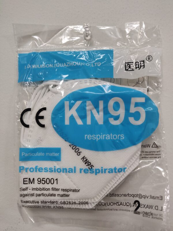 KN95 Disposable Face Mask Particle Respirator - 10 Masks - (2pcs Wrapped in 1 Individual Pack)