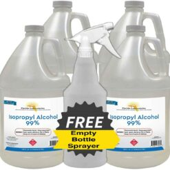 Isopropyl Alcohol Grade 99% Anhydrous - 4 Gallon - Empty Bottle Sprayer Included